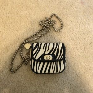Banana Republic zebra coin purse/crossbody